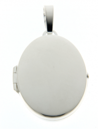 Ovaal zilveren medaillon luxe 25 x 34 mm.