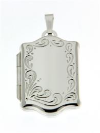 Zilveren medaillon fraai model