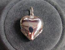 Hart medaillon zilver voor 4 foto's