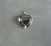 4 foto medaillon hart in hart