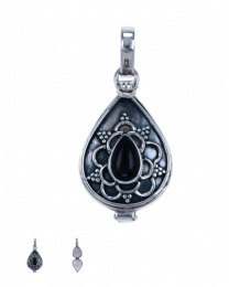 zilveren hanger doosje onyx