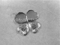 Hart Medaillon voor 4 foto's bewerkt zilver 20 mm