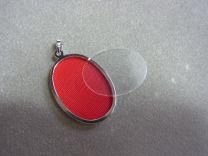 Open zilveren medaillon voor 1 foto