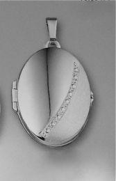 Ovaal medaillon luxe met slingertje 20 x 28 mm