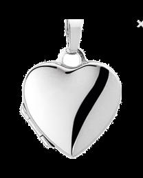 Witgoud medaillon hart
